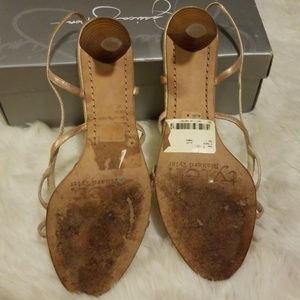 Richard Tyler Shoes - Richard Tyler Blush Gold Strappy Heels